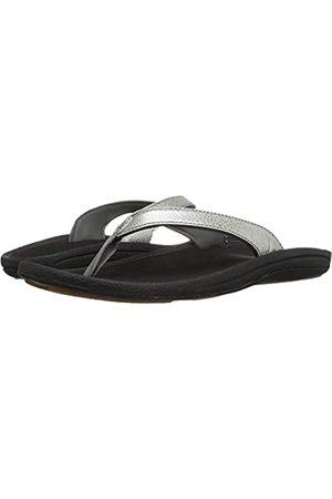 Olukai Damen Schuhe - Womens Silver/Black Kulapa Kai Sandal - 6 B(M) US