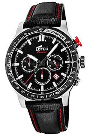 Lotus Herren Chronograph Quarz Uhr mit Leder Armband 18587/4