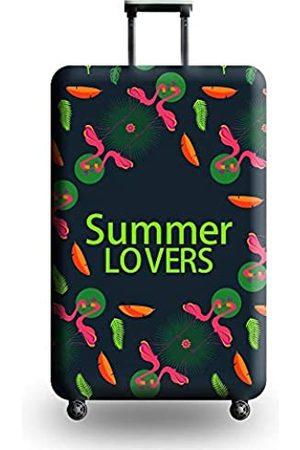 Naranja gato Reisegepäck-Abdeckung, Koffer, Flamingo, niedlicher Tropenschutz, waschbar, Spandex passend für 45,7-81