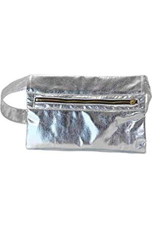KIKS Design Co Zippy Gürteltasche mit Reißverschluss, zum Binden an der Taille, als Umhängetasche, Handyhalter, Gürteltasche, Reisen, Unisex, (Silberfarben metallisch)