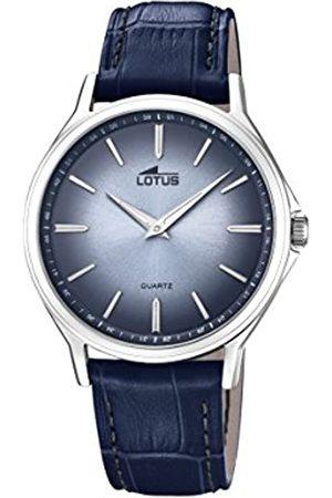 Lotus Herren Uhren - Herren Datum klassisch Quarz Uhr mit Leder Armband 18516/2
