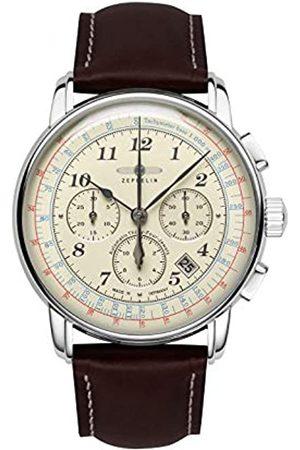 Zeppelin Unisex Chronograph Quarz Uhr mit Leder Armband 7624-5