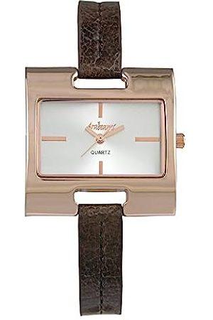 Arabians Damen Uhren - DamenAnalogQuarzUhrmitLederArmbandDPP2153AP