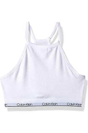 Calvin Klein Mädchen Girls' Modern Cotton Bralette Funktionsunterwäsche, Single-Classic White