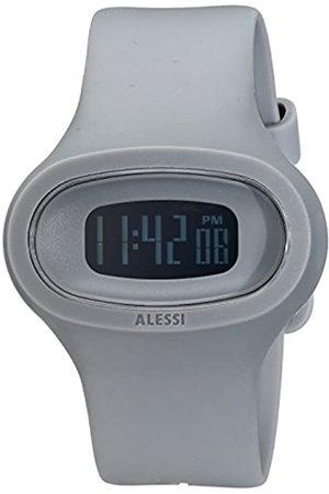 Alessi Unisex-Armbanduhr Digital mit Dial Digital Display und PU-Armband Kunststoff und AL25005