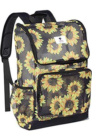 ESVAN Damen Strandmode - Rucksack mit originellem Druck, durchsichtig, für Schule, Strand, Fitnessstudio, Mehrzweck