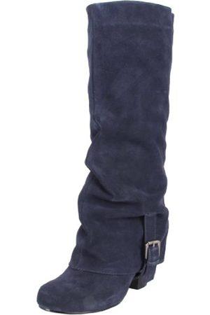 NAUGHTY MONKEY Damen Overknees - Damen Jump Start Kniehohe Stiefel, (Navy)