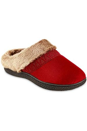 Isotoner Women's Microsuede Sage Hoodback Slippers - ChiliPepper Large
