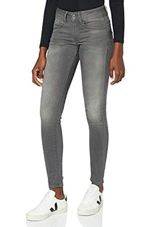 G-Star Damen Lynn Mid Waist Skinny Jeans, Grau (medium Aged 6132-071)