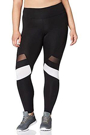 AURIQUE Amazon-Marke: Damen 7/8-Lauf-Leggings mit hohem Bund, (Black/White), 36