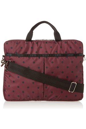 LeSportsac 13 Zoll Computer-Handtasche, Rot (Maulbeerfarben mit Punkten)