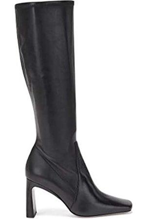 HUGO BOSS Damen Alek STR.Long B85-NC Kniehohe Boots aus italienischem Leder mit eckiger Kappe Größe 38.5