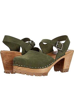 Mia Damen Abba Clogs inspirierte Sandalen, (Bambu Green)
