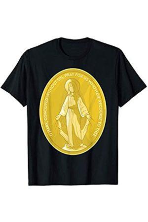 Happy Catholics Wunderbare Medaille Unserer Lieben Frau von Grace Mary T-Shirt