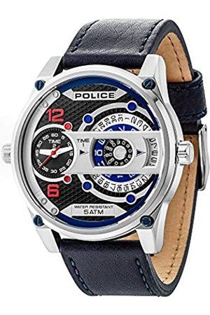 Police Herren Analog Quarz Uhr mit Leder Armband PL14835JS.02