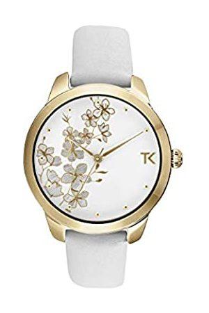 Trendy Kiss Damen Analog Quarz Uhr mit Leder Armband TG10140-01