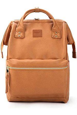 Kah&Kee Leder Rucksack Wickeltasche mit Laptopfach Travel School für Damen (Kamel