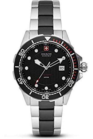 Swiss Military Hanowa Unisex Erwachsene Analog Quarz Uhr mit Edelstahl Armband 06-5315.33.007