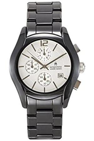 Argonau Unisex Erwachsene Analog Quarz Uhr mit Keramik Armband AU1500