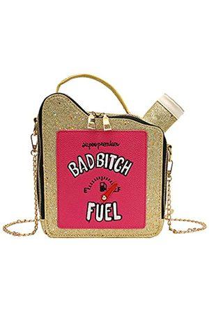 KUANG! Kuang Damen Fashion Pailletten Crossbody Tasche Mädchen Fun Benzin Handtasche Schultertasche für Frauen Messenger Tote Bags
