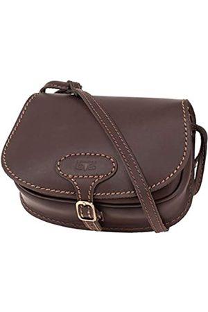 Mika 28059022 - Damentasche Bonny aus Echt Leder/Sattelleder, Damen Handtasche mit Hauptfach und Vortasche, Ledertasche für Frauen, Umhängetasche in