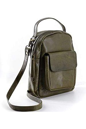 Komal's Passion Leather Leder-Rucksack für Damen – Crossbody Satchel Schultertasche Reisetasche