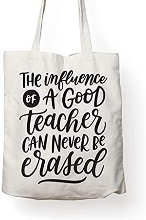 FOLIO THE INFLUENCE OF A TEACHER CAN NEVER BE ERASED - Teacher's CANVAS TOTE - GREAT TEACHER APPRECIATION GIFT