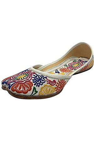 Step N Style Indische Punjabi Juttis Damen Boho Mojari Khussa Schuhe Sari Ethnische Schuhe, Mehrere (multi)