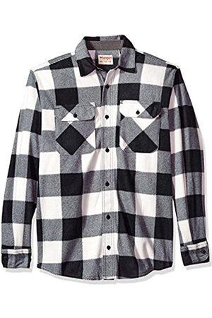 Wrangler Authentics Herren Long Sleeve Plaid Fleece Shirt Jacket Button Down Hemd