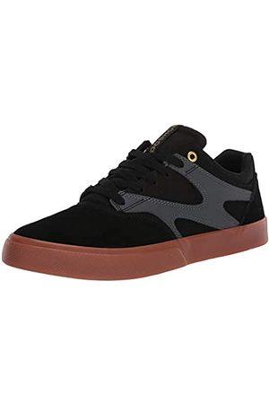 DC Herren Schuhe - Herren Kalis Vulc Skateboardschuhe, Black Grey