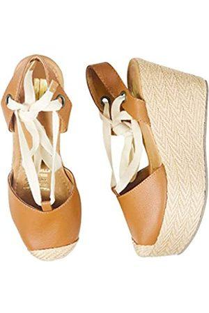SILVIA COBOS Damen-Espadrilles mit Schnürung, hohe Taille, Calzado para DAMA, Beige (honig)