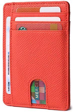 Borgasets Dünne, minimalistische Geldbörse mit Vordertasche, RFID-blockierendes Leder