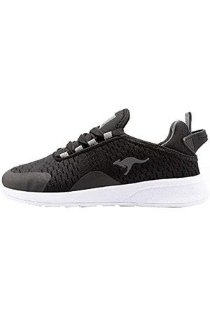 KangaROOS Jungen Schuhe - KF Flex Sneaker, (Jet Black/Steel Grey 5003)