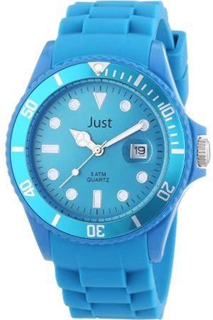Just Watches Unisex-Armbanduhr Rubber Strap Collection Analog Quarz Silikon 48-S5457-HBL