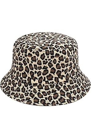 KUJUHA Damen Herren Leopard Bucket Hat Packable Gepard Sonnenhut Baumwolle Fischerhut - - Einheitsgröße