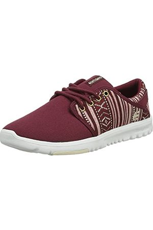 Etnies Damen Scout Sneaker, Burgundy/Tan