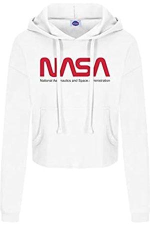 Nasa Damen Sweatshirts - Damen Insignia Cropped Hood Kapuzenpullover