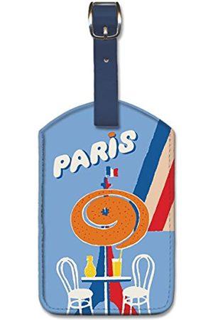 Pacifica Island Art Leatherette Luggage Baggage Tag - Paris by Bernard Villemot