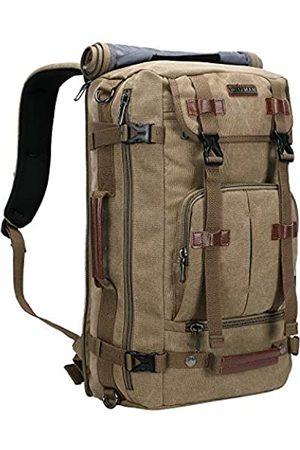 WITZMAN Canvas Rucksack Vintage Reise Rucksack Groß Laptop Taschen Convertible Schulter Rucksack (Gr�n) - A519-1 Classic Light Green US
