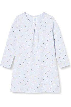 Sanetta Mädchen Sleepshirt Light Blue Nachthemd zarten mit einem detailreichen Blümchen-Allover
