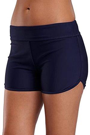 Sociala Damen Badeanzug Boyleg Swim Shorts Tankini Hose Beach Boardshorts Größe L