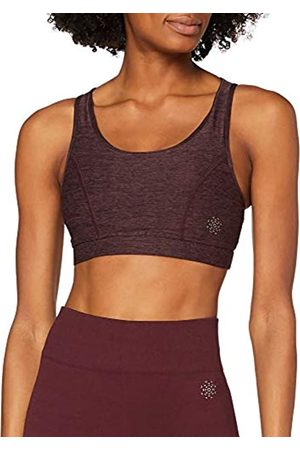 AURIQUE Amazon-Marke: Damen Sport-BH Low Impact Strappy, Rot (Port Marl), L
