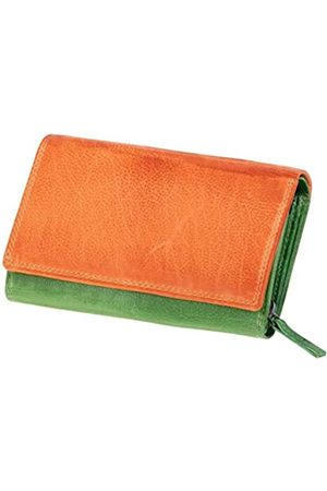 Mika 42186 - Damengeldbörse aus Echt Leder, Portemonnaie im Querformat, Geldbeutel mit 12 Kartenfächer, Scheinfach und Münzfach mit Reißverschluss, Brieftasche in, ca. 15