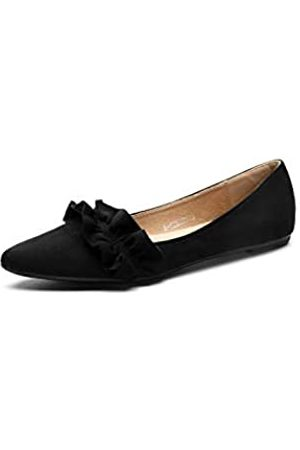 Ashley A Damen Halbschuhe - A-CELINE01 Damen Ballettkleid, knitterspitz, bequem, Slip-On