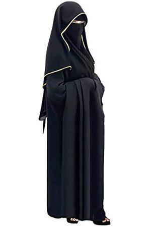 bonballoon Saudi Chiffon First Class Qualität Lange Saudi Niqab Burqa Hijab Gesichtsbedeckung Schleier Islam Islamisch Jilbab ( x Satin)