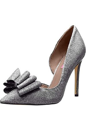 Betsey Johnson Women's Prince D'Orsay Pump, Pewter