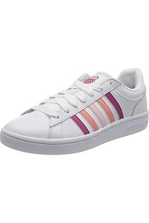 K-Swiss Damen Court Winston Sneaker, White/CACTSFLWR/SHLPK