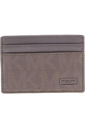 Michael Kors Herren Geldbörsen & Etuis - Logo Men's ID Card Case Wallet Brown