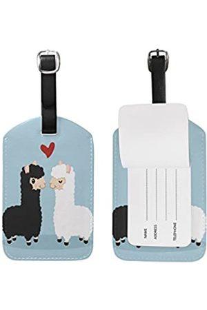 SEULIFE Reisetaschen - Gepäckanhänger, süßes Llama Love Reisekoffer