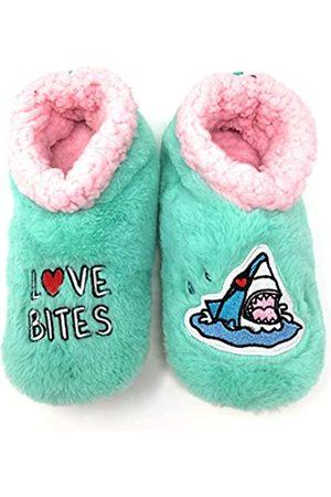 JYinstyle Aquatic Love Bites Damen Hausschuhe, Größe M (Schuhgröße 41/4)
